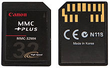 A memory card standard used for solid-state storage.